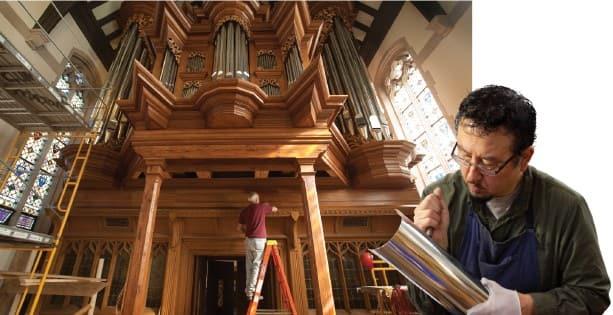 Baroque organ in construction
