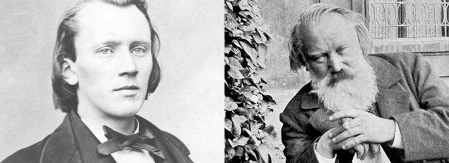 Brahms as a younger and older man