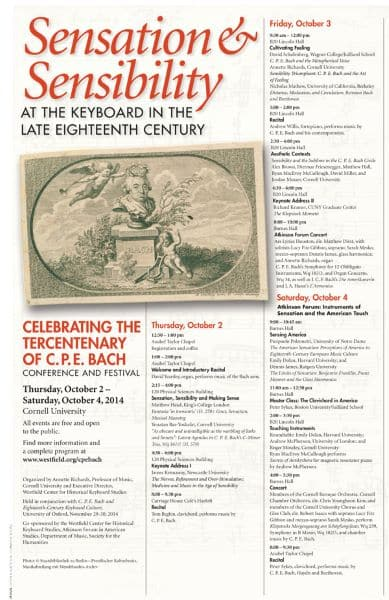 CPE Bach Conference Poster